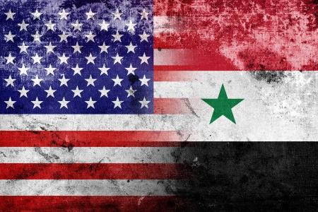 syria: Grunge USA und Syrien