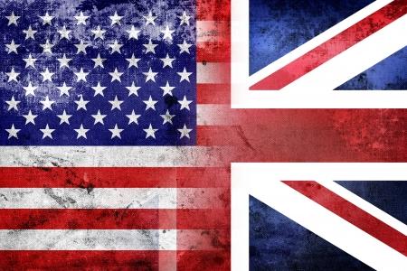 Grunge USA and UK flag