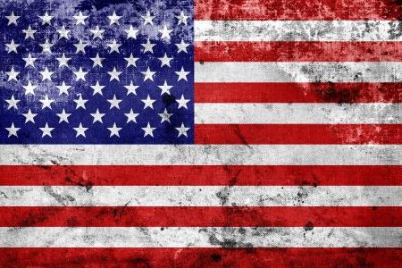 Grunge USA Flag  Фото со стока