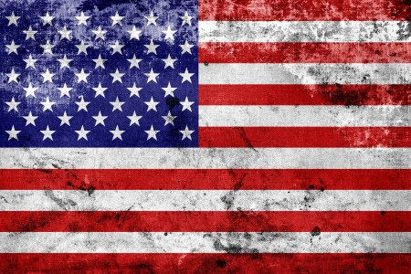 Grunge USA Flag  Standard-Bild