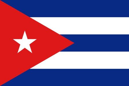 Cuba Flag Standard-Bild