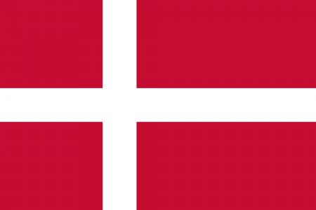 Denmark Flag Standard-Bild
