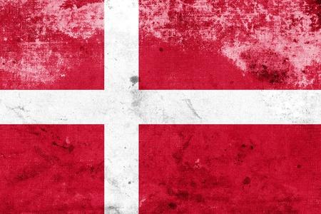 danmark: Grunge Denmark Flag  Stock Photo