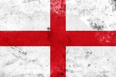 bandera inglaterra: Grunge bandera de Inglaterra Foto de archivo