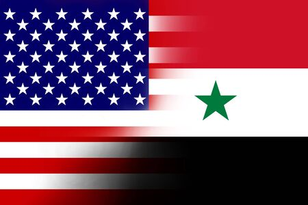 USA and Syria Flag photo