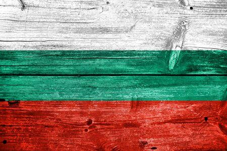 Bulgarie Drapeau peinte sur le vieux bois planche fond