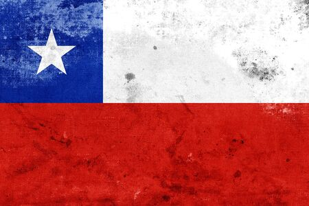 bandera chile: Grunge Chile Flag