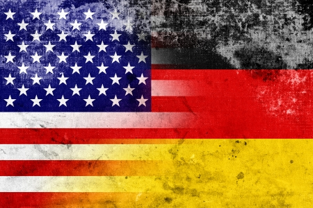 Grunge USA and Germany Flag photo