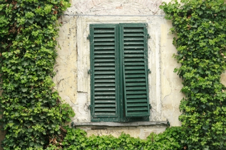 Antique window in Italy photo