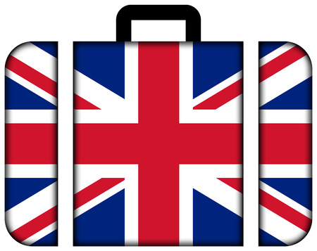 customs official: Suitcase with UK Flag