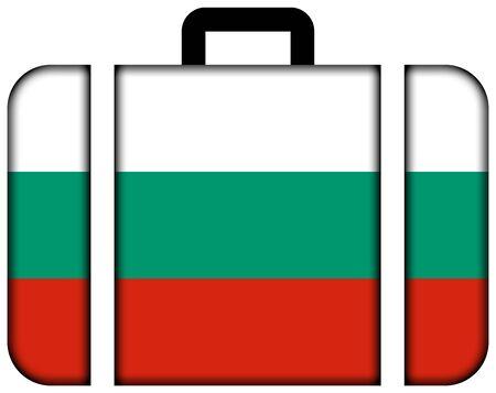 Suitcase with Bulgaria Flag photo