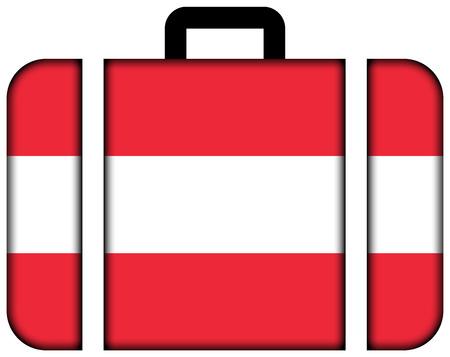 Suitcase with Austria Flag photo