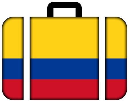 Suitcase with Colombia Flag photo