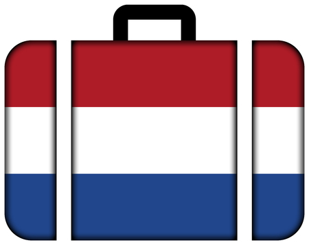 Suitcase with Netherlands Flag photo