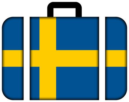 schweden flagge: Koffer mit Schweden-Flagge Lizenzfreie Bilder
