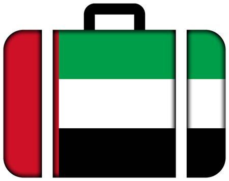 Suitcase with United Arab Emirates Flag photo