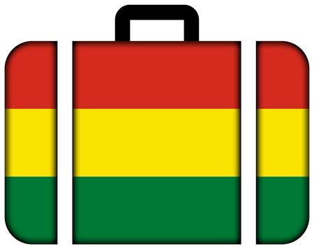 bandera de bolivia: Maleta con la bandera de Bolivia Foto de archivo