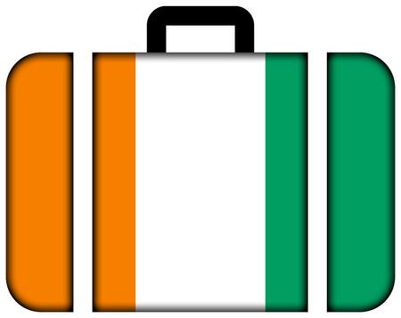 Suitcase with Ivory Coast Flag photo