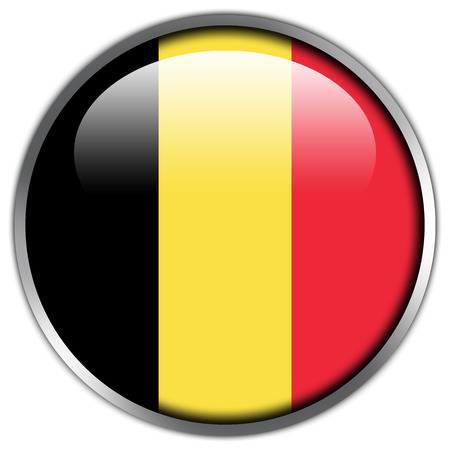 Belgium Flag glossy button photo