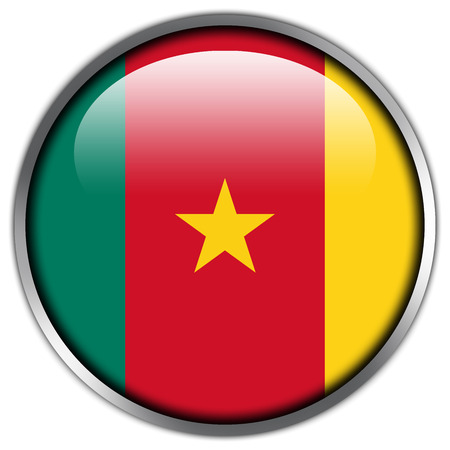Cameroon Flag glossy button photo