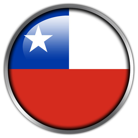 Chile Flag glossy button photo