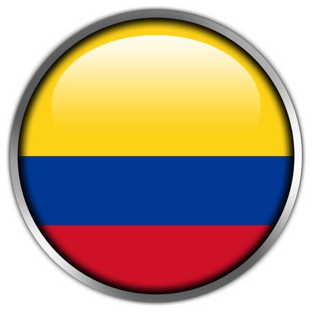 bandera de colombia: Botón brillante de la bandera de Colombia