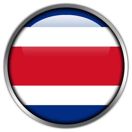 Costa Rica Flag glossy button Stock Photo