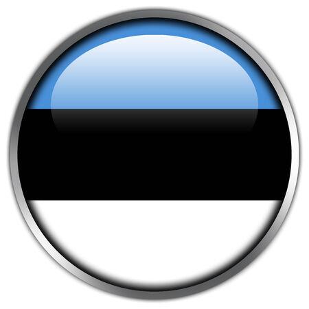 Estonia Flag glossy button photo