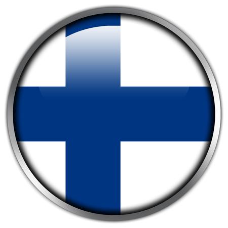 bandera de finlandia: Bot�n brillante de la bandera de Finlandia