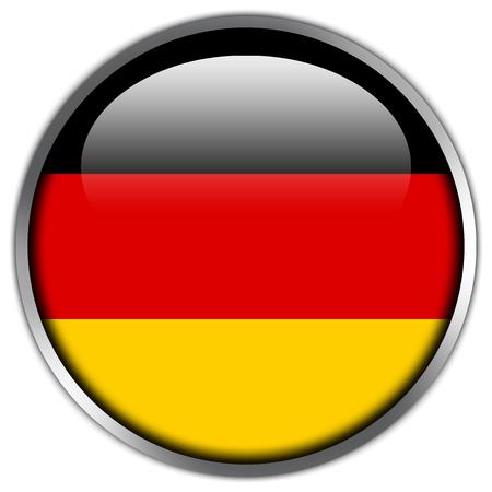 germany flag: Pulsante lucido Bandiera Germania