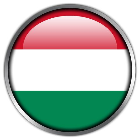 Hungary Flag glossy button photo