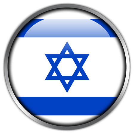 Israel Flag glossy button photo