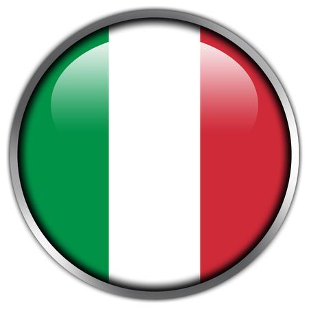 flaga włoch: Włochy Flaga błyszczący