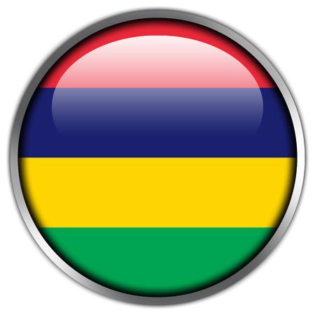 mauritius: Mauritius Flag glossy button
