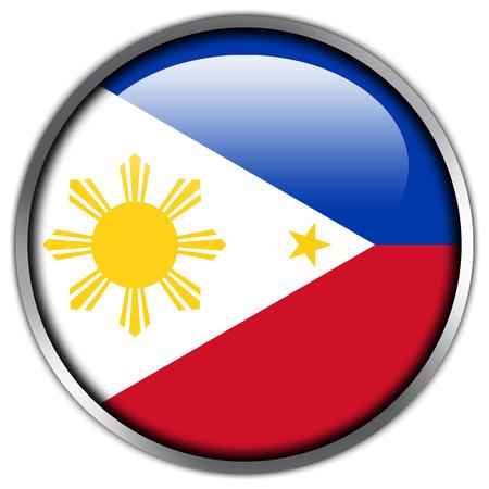 filipino: Philippines Flag glossy button
