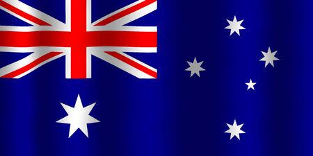 flag australia: Waving Australia Flag