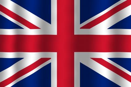 Waving UK Flag Stock Photo