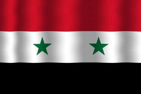 Waving Syria Flag photo