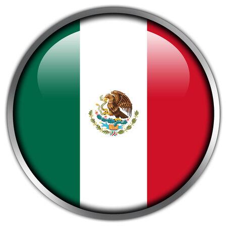 mexico flag: Mexico Flag glossy button Stock Photo