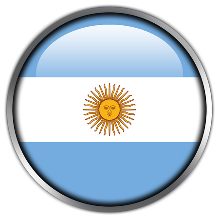Argentina Flag glossy button photo