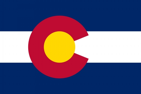 Colorado Flag Фото со стока