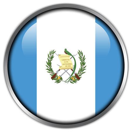 bandera de guatemala: Bot�n brillante de la bandera de Guatemala Foto de archivo