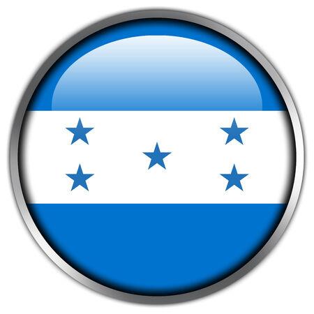 bandera honduras: Bot�n brillante de la bandera de Honduras Foto de archivo