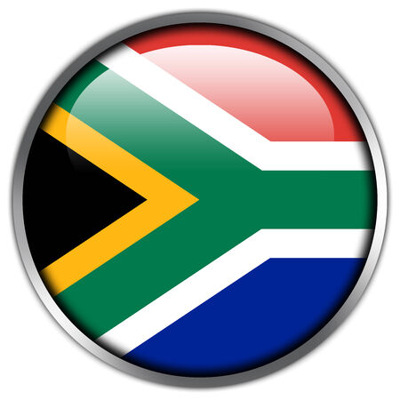 South Africa Flag glossy button photo