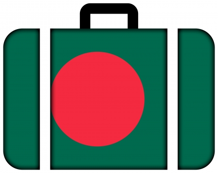 Suitcase with Bangladesh Flag photo