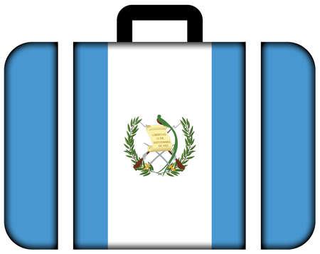 bandera de guatemala: Maleta con la bandera de Guatemala