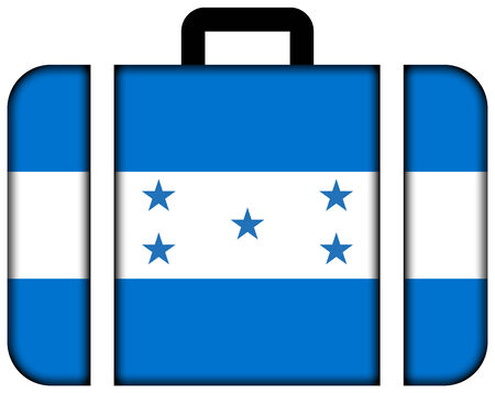 Suitcase with Honduras Flag photo