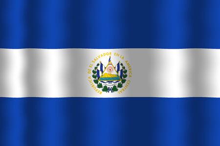edel: Waving El Salvador Flag Stock Photo
