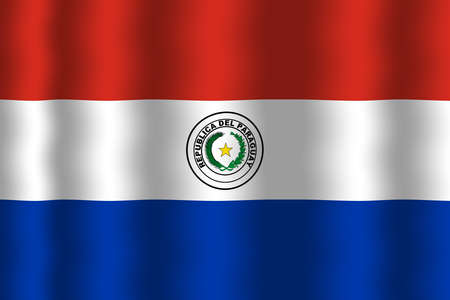 paraguay: Waving Paraguay Flag