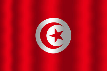 tunisia: Waving Tunisia Flag